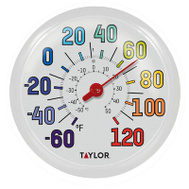Taylor 6714 Rainbow Indoor Outdoor Thermometer 12 Inch