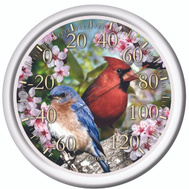 Taylor 6733 Blue Bird Red Bird Heat Index Thermometer