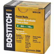 Stanley Bostitch SB16-2.00 2 Inch 16-Gauge Straight Finish Nails (Pack Of 2500)