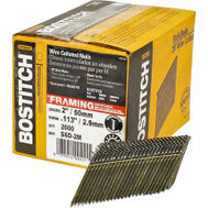 Stanley Bostitch S6D-FH 2 Inch By 0.113 Smooth Shank 28 Degree Wire Collated Stick Framing Nails (Pack Of 2000)