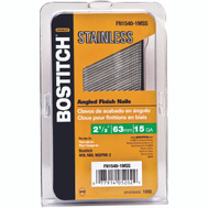Stanley Bostitch FN1540-1MSS 2-1/2 Inch 15-Gauge Fn Style Angled Collated Finishing Nails (Pack Of 1000)