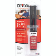 Devcon 21445 Flow Mix Clear 60 Second Epoxy With 1250 PSI Strength