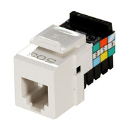 Leviton R04-41106-00WH 6 Conductor Snap-In Telephone Jack White