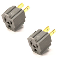 Leviton C30-274 15 Amp 125 Volt Grounding Adapters Card Of 2