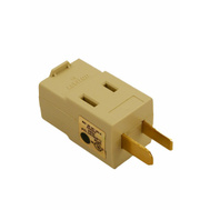 Leviton C21-00531-I Triple Outlet Polarized Cube Adapter Ivory