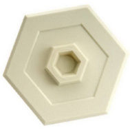 Belwith 6000 Moulded Wall Guard 5 Inch Hexagon White