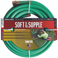 Colorite Swan SNSS58025 Soft & Supple Garden Hose Premium 5/8 Inch By 25 Foot Soft And Supple