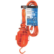 Southwire 0201 Woods Orange Plastic Trouble Light With Plastic Guard 25 Foot Cord