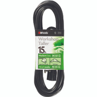 Coleman Cable 990261 15 Foot 16/3 Sjtw Power Cord Black