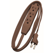 Coleman Cable 0608 8 Foot 16/3 Spt 2 Household Cord Brown