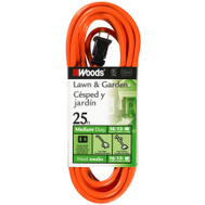 Coleman Cable 0722 25 Foot 16/2 Sjtw Extension Cord Orange