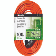 Coleman Cable 0724 100 Foot 16/2 Sjtw Extension Cord Orange