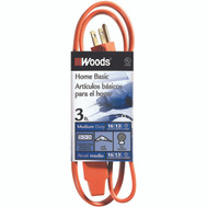 Coleman Cable 0814 16/3 By 3 Foot 3 Power Indoor Extension Cord