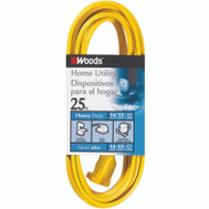 Coleman Cable 0834 14/3 By 25 Foot Single Outlet Indoor Extension Cord