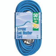 Coleman Cable 2435 Cord Ext Coldflx 16/3X50ft Blu