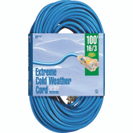 Coleman Cable 2436 100 Foot 16/3 10 Amp Blue Coldflex Cord