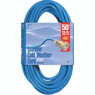Coleman Cable 2438 Cord Ext Coldflx 12/3X50ft Blu
