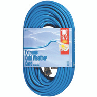 Coleman Cable 2439 Cord Ext Cldflx 12/3X100ft Blu