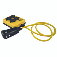 Coleman Cable 2516 Yellow Jacket Duplex Gfi Protected Power Station With 6 Foot 12/3 Sjtw Cord