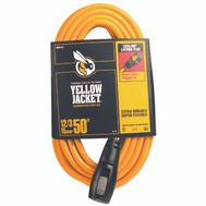 Coleman Cable 2737 Yellow Jacket 12/3 By 50 Foot Locking Plug Extension Cord