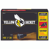 Coleman Cable 2738 Yellow Jacket 12/3 By 100 Foot Locking Plug Extension Cord