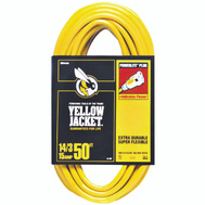 Coleman Cable 2887 Yellow Jacket Contractor Extension Cord 14/3 By 50 Feet 15 Amp