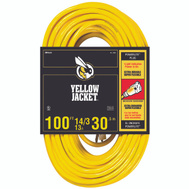 Coleman Cable 2888 Yellow Jacket 14/3 By 100 Foot 13 Amp Heavy Duty Extension Cord