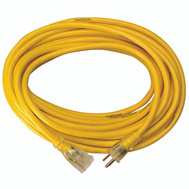 Coleman Cable 2991 Yellow Jacket 10/3 By 50 Foot T Blade Extension Cord