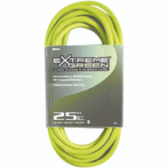 Coleman Cable 4301 Supreme 14/3 By 25 Foot Sjow Green Rbr Cord