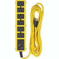 Coleman Cable 5138N Yellow Jacket 6 Outlet Heavy Duty Surge Protector With 15 Foot Cord