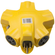 Southwire Coleman Cable 997362 Yellow Jacket 5 Outlet 15 Amp Powerlink Adapter