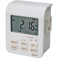 Coleman Cable 50009 Woods Indoor Heavy Duty 7 Day Digital Timer With 2 Outlets
