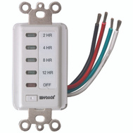 Southwire 59014 12-8-4-2 Hour Preset Wall Switch Timer White
