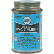 William Harvey 018400-24 Pvc Cement Wet Set Blue 4 Ounce