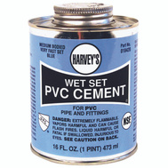 William Harvey 018420-12 Pvc Cement Wet Set Blue 16 Ounce