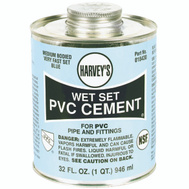 William Harvey 018430-12 Pvc Cement Wet Set Blue 32 Ounce