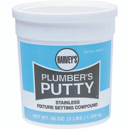 William Harvey 043050 3 Pound Stainless Plumbers Putty