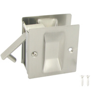 Prime Line N7238 164158 Passage Notched Pocket Door Pull 2-1/2 By 2-3/4 By 1-3/8 Inch Satin Nickel