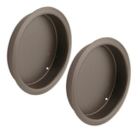 Prime Line N7211 164450 Recessed Round Cup Pulls 2-1/8 Inch Oil Rubbed Bronze 2 Pack
