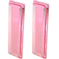 Prime Line M6102 191928 Clear Acrylic Adhesive Sliding Medicine Cabinet Door Pulls 2 Pack