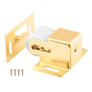 Prime Line U9047 241938 Brass Plated Cabinet And Closet Door Roller Catch
