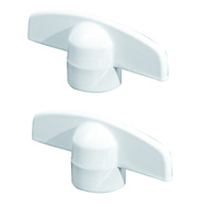 Prime Line H3892 173234W Casement Window Universal Tee Cranks White 2 Pack