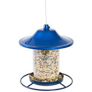 Woodstream 312B Perky Pet Birdfeeder Panorama Blue 2 Pound