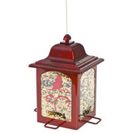 Woodstream 363R Birdfeeder Lntrn Red 4Port 3 Pound