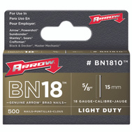 Arrow Fastener BN1810CS 1000PK 5/8 Inch BRN Brad