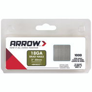 Arrow Fastener BN1832CS Nail Brad 18G Pk1000 2In Brown 1,000 Pack