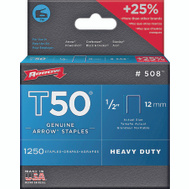 Arrow Fastener 50824 / 508 1/2 Inch T50 Staples