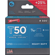 Arrow Fastener 50524 / 505 5/16 Inch Wedge Pointed T50 Staples