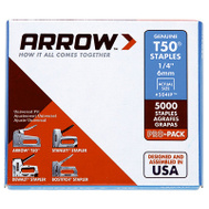 Arrow Fastener 504IP 1/4 Inch T50 Staples