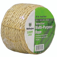 Lehigh Group M1016C0100 Rope Natural Sisal 1/4 X 100Ft